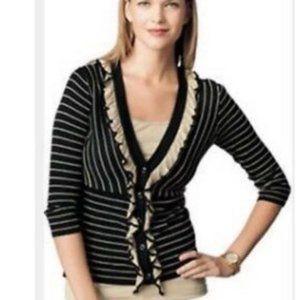 CAbi #276 'The Flirt' Ruffled Cardigan Sweater